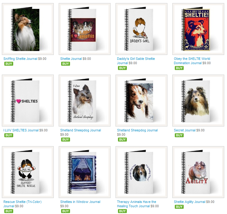 Shetland Sheep Dog Journals