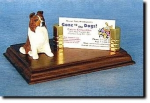 Shetland Sheepdog Business Card Holder