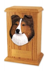 Sheltie Cremation Memorial Urn