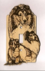 Sheltie Switch Plate