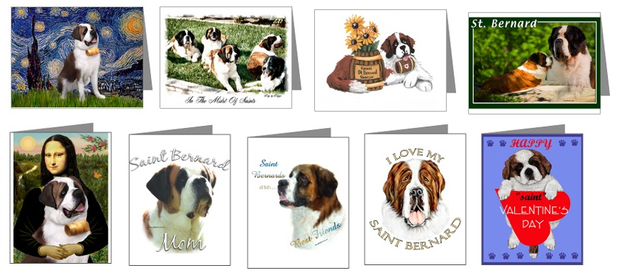 Saint Bernard Cards