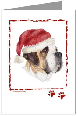 Saint Bernard Puppy Christmas Cards