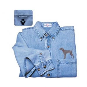 Weimaraner Denim Shirt