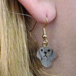 Weimaraner Earrings Hanging