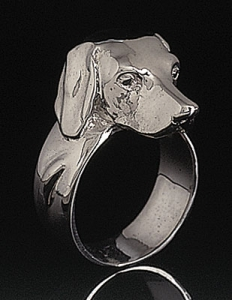Weimaraner Sterling Silver Ring