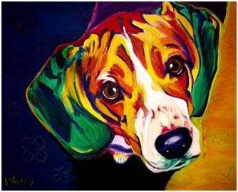 Colorful Beagle Paintings