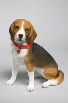 Delicieux Beagle Figurine, Beagle Large Sculpture