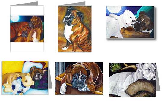 Boxers Dogs Art By Vern