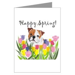 The bulldog shop english bulldog greeting cards notecards english bulldog greeting cards english bulldog happy spring greeting cards m4hsunfo